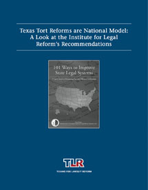 Texas Tort Reforms are National Model